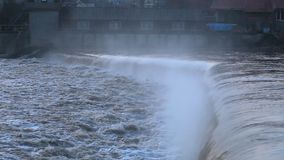 River burst its banks. After heavy rains stock video footage