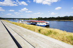 River Cafe on the Vistula River in Warsaw Stock Photography