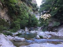 River of cagnes. Beauty nature France Royalty Free Stock Photography