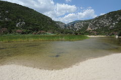 The river at Cala Luna on the island of Sardinia Stock Photos