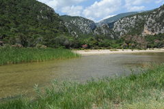 The river at Cala Luna on the island of Sardinia Royalty Free Stock Photos