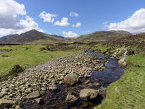 River Calder, Glen Banchor, Scotland west highlands in spring Royalty Free Stock Photos