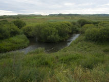 A river called Glogen in Inner Mongolia Stock Photos