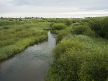 A river called Glogen in Inner Mongolia. On grassland in Duolun Royalty Free Stock Images