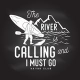 The River is calling and i must go. Stock Images