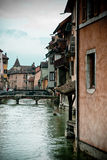 River canal in Annecy, France stock photography