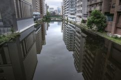 River canal in Nagoya, Japan royalty free stock images