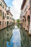 River canal in Treviso Stock Image