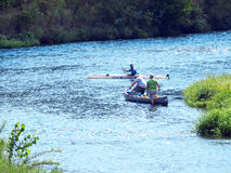 River Canoeing and Kayaking Stock Images