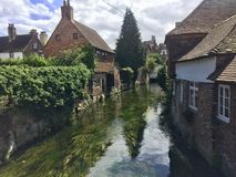 River at Canterbury. Old traditional houses river Canterbury royalty free stock image