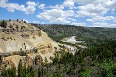 River Canyon. River Meanders Through Canyon Yellowstone National Park stock photos