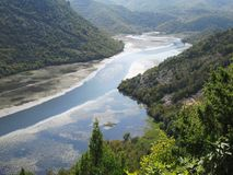 River canyon. In Montenegro, with beautiful nature surrounding it Royalty Free Stock Images