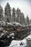 River Canyon And Rocks In Winter Stock Photo