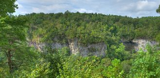 River Canyon Bluffs. Little River Canyon in Northeast Alabama Royalty Free Stock Images