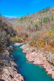 River in canyon of the Caucasus Mountains Royalty Free Stock Photos