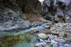 River in a canyon Stock Photos
