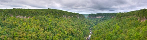 River Canyon. Little River Canyon Panoramic in Northeast Alabama Royalty Free Stock Images