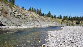 River canyon. Freshwater, trout fishing, backccuntry Stock Images