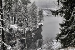 River Canyon and rocks in winter Royalty Free Stock Images