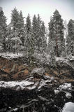River Canyon and rocks in winter Royalty Free Stock Photos