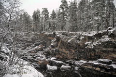 River Canyon and rocks in winter Stock Image