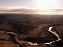 River in Canyonlands National Park, Utah. Royalty Free Stock Photo