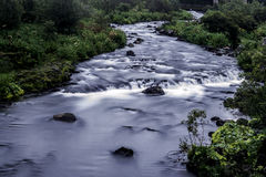 River in the capital Reykjavik. Famous for salmon fishing in the middle of the capital Reykjavik Stock Image