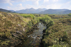 River Caragh and Mullaghanattin Mountains Royalty Free Stock Image