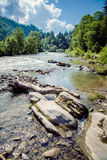 River in the Carpathian mountains Stock Images