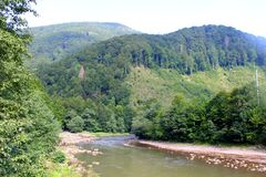 River in Carpathian mountains Royalty Free Stock Image