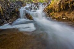 River cascade in big canyon Stock Photo