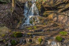 River cascade in big canyon Stock Photography