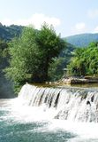 River Cascade Near Jajce Waterfall Royalty Free Stock Images