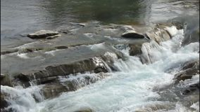 River and cascades. stock footage