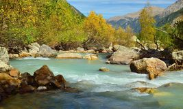 River in Caucasus Stock Photo