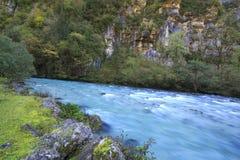River in Caucasus mountains, Abkhazia, Georgia Stock Photo