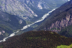 River in Caucasus Mountains. Region Dombay. Stock Photography