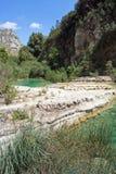 The river of Cavagrande in Sicily stock image