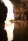 River in cave,Vietnam Royalty Free Stock Photo