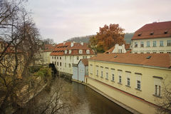 River Certovka in historic part of Prague Royalty Free Stock Image