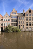 River channel and buildings in Gent Royalty Free Stock Photo