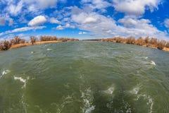 River channel in Danube Delta Stock Image