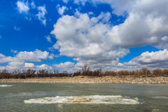River channel in Danube Delta Stock Photo