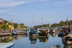 River Channel,. It's River Channel in Hoi An, Vietnam Royalty Free Stock Image