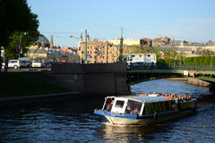 River channel in Saint-Petersburg Stock Photo