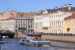 River channel in Saint-Petersburg Stock Images