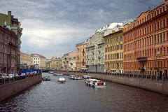 River channel in Saint-Petersburg. Royalty Free Stock Photo
