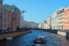 River channel in Saint-Petersburg Royalty Free Stock Image