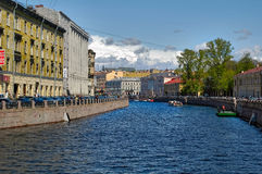 River channel of Saint-Petersburg. Russia Stock Photography