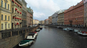 River channels of St. Petersburg stock image
